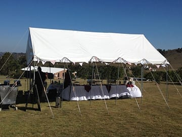 Marquee wedding Dungog casual Buffet Caterforce