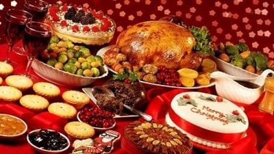 Xmas festive food
