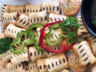 Cateforce - Appetisers King Island Beef Sausage rolls casual catering